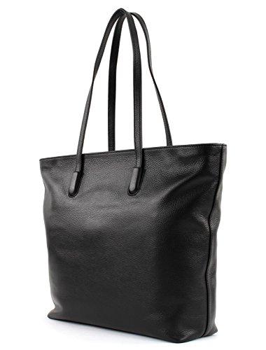Pelle Coccinelle Bag Borse 32 Clementine Cm Morbida Nero Shopper 7xwZEAax