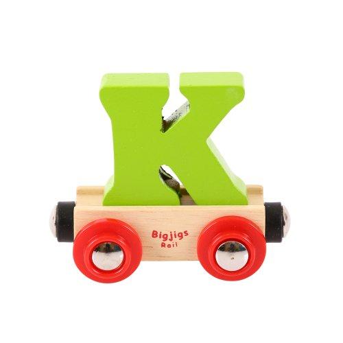 Bigjigs Rail Rail Name Letter K (Colors - Letter Name Rail