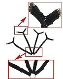 Sheet Bed Suspenders Adjustable Crisscross Fitted Sheet Band Straps Grippers Adjustable Mattress Pad Duvet Cover Bed Sheet Corner Holder Elastic Straps Fasteners Clips Grippers Clippers HEAVY DUTY