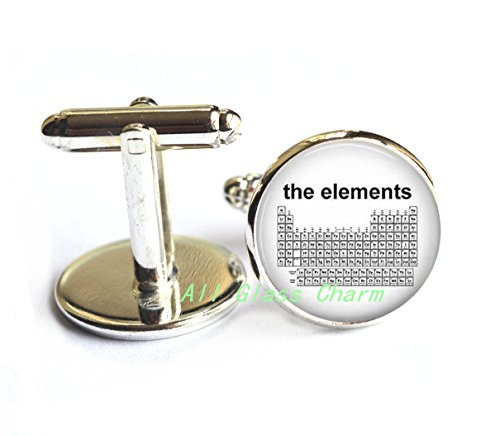 Charming Cufflinks,Periodic Table of The Elements - Science Jewelry - Chemistry - Elemental Table - Science Teacher - - For Be Halloween To A Nerd How
