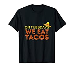 A cute and hilarious taco theme t-shirt. A loud and bold design that lets everyone know that you are a taco and Mexican cuisine lover!