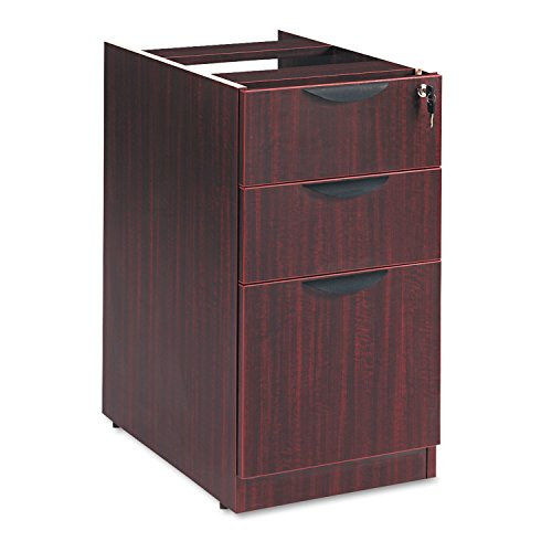 Alera Desk - Alera VA532822MY Valencia Series 16 by 22 by 28-Inch 2 Box and 1 File Drawer Full Pedestal, Mahogany