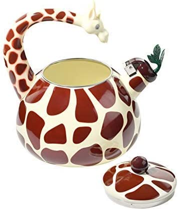 HOME-X Giraffe Whistling Tea Kettle, Animal Teapot, Kitchen Accessories and D cor