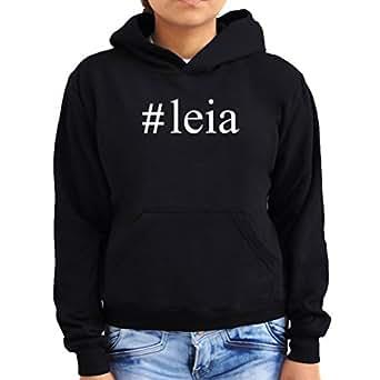 #Leia Hashtag Women Hoodie
