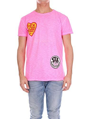 Sex1921pink shirt Coton T 1921 Rose Homme Sw5R0R