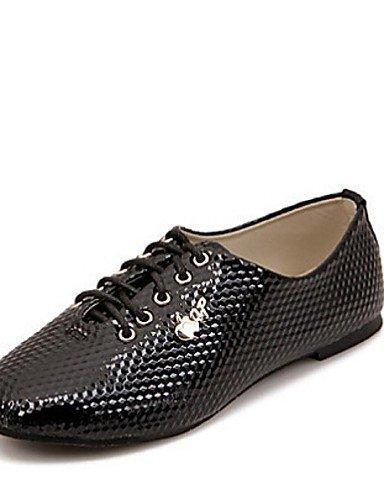 cn36 eu36 5 Cerrada Negro Zapatos uk3 ZQ white white uk4 us6 de uk4 cn36 Tacón black us5 cn35 Plano us6 eu36 Punta mujer 5 Blanco Semicuero Casual Oxfords eu36 aYp6Yq