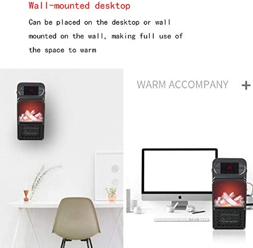 AUED Mini riscaldatore, Simulazione 3D Fiamma riscaldatore Elettrico riscaldatore Ventilatore Portatile Tranquillo Stufetta casa Desktop riscaldatore, per Ufficio dormitorio