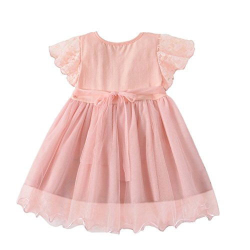 Reconstitution Historique Partie De Dentelle Bébé Enfant Weixinbuy Fille Robes De Fleurs Princesse De Mariage Tulle Jupe Tutu Rose