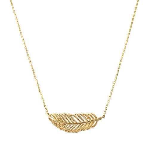 Spinningdaisy Handcrafted Brushed Sideways Necklace
