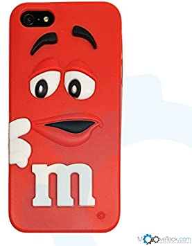 MooveTeck Coque Silicone M&M's 3D Rouge pour iPhone 5 5S Se ...