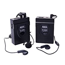 BOYA BY-WM5 Pro Wireless Lavalier Microphone Microphone System for Canon Nikon Sony DSLR Camcorder Audio Recorders
