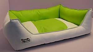 Sofá cama de piel sintética perros Acceso 105 cm X 80 cm blanco cidro