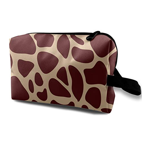 (HHFASN Giraffe Print Pattern Durable Makeup Bag Pouch Purse Handbag Organizer Large Pencil Case Stationery Pouch)