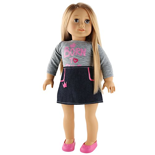 WEWILL Adorable Girl Doll Baby,18 inch, Grey (Tina) ()