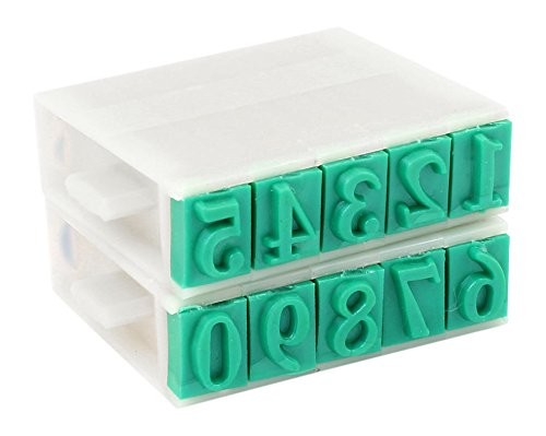 SourcingMap 13 mm 0-9 dí gitos Nú mero de combinació n de goma/plá stico sello a13060100ux0144