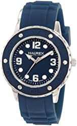 Haurex Italy Women's 1D371DB1 Vivace Teal Dial Rubber Watch