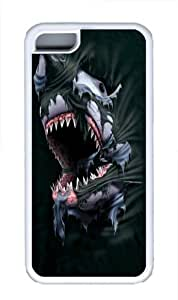Breakthrough Shark TPU Silicone Case Cover for iPhone 5C White