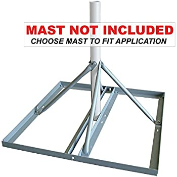"Non-Penetrating Antenna Mast Roof Mount with 1.66/"" x 30/"" Mast EZ NP-30-166"