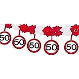 Guirlande en papier 4m 50e Signe de la circulation anniversaire