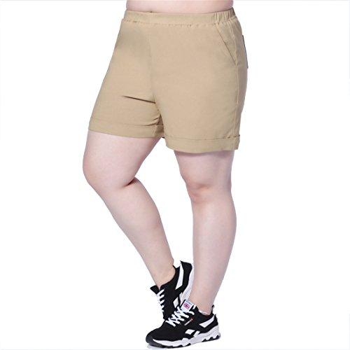 corti pantaloni plus Estate confortevole Size al donna fino Cachi Dunland ginocchio da x0Bnwqq1