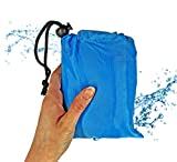 4.5ft x 5ft Best Lightweight Waterproof Tarp, Designed to be Compact to fit in Backpack, Purse, Picnic Bag, or Pocket - Portable Ground Cover for Backpacking, Hiking, Beach, Festivals, Picnic