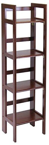 Winsome Wood Folding 4-Tier Shelf, Antique Walnut by Winsome Wood