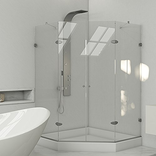 Why Choose VIGO Gemini 42.125 x 42.125-in. Frameless Neo-Angle Shower Enclosure with .375-in. Clear ...