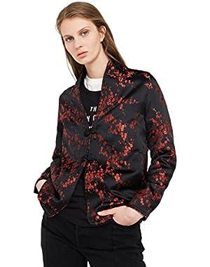 Mango Women's Floral Embroidered Kimono Jacket