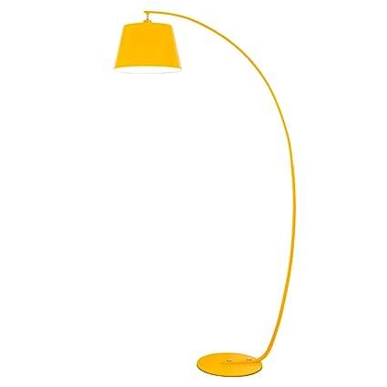 Lámpara De Pie De Diseño Lámpara De Arco Sofá Amarillo ...