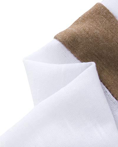 YOINS Donna Maglie a Manica Lunga Camicetta Felpa con Righe Girocollo T-Shirt Oversize Maglietta