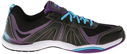 Ryka Moxie de la mujer zapatos ejercicios Black/Blast Purple/Detox Blue/Lime Shock
