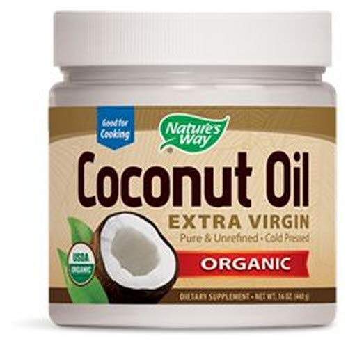 Nature's Coconut Oil-Extra Virgin Organic 16 FZ (Pack of 6)