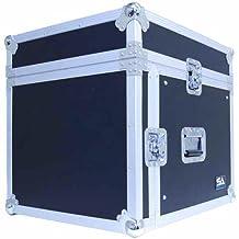 Seismic Audio - SAMRC-8U - 8 Space Rack Case with Slant Mixer Top - PA/DJ Pro Audio Road Case
