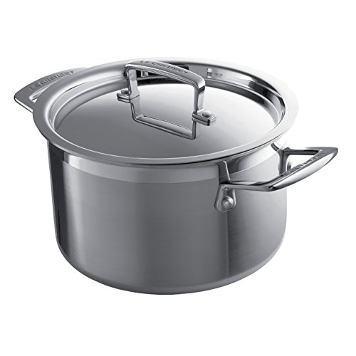 Le Creuset Tri-Ply Stainless Steel 6-1/4-Quart Covered Casse