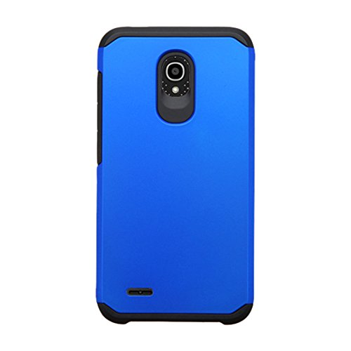 Asmyna Astronoot Phone Case for ALCATEL 7046T (One Touch Conquest) - Retail Packaging - Black/Blue