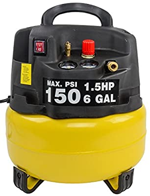 JEGS Performance Products 81966 Air Compressor 6 Gallon 1.5 HP 120VAC/60Hz/9.7A