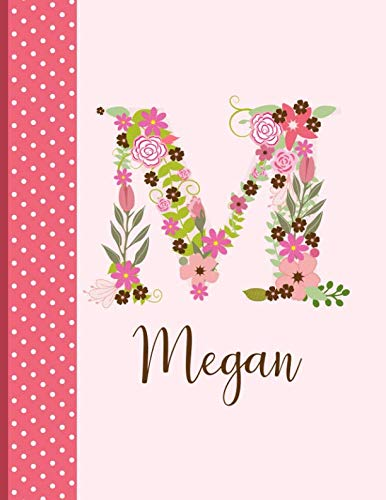 Megan: Personalized Writing Journal / Notebook for Women and Girls, Floral Monogram Initials Names Notebook, Journals to Write in for Women, 110 ... Journal / Notebook, Personalized Gift)