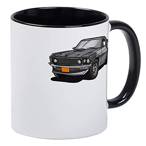 (1969 Ford Mustang Mach 1 Mug - Ceramic 11oz RINGER Coffee/Tea Cup Gift Stocking)