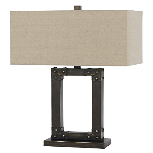 Cal Lighting Iron Table Lamp in Metal (Cal Lighting Table Lamp compare prices)