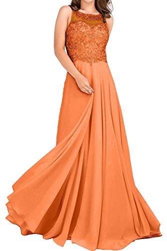 Partykleider mia Gruen Linie Spitze Orange La Ballkleider Promkleider Abendkleider Rock Prinzess Braut A Langes Jugendweihe Hell Kleider 8wddCpq