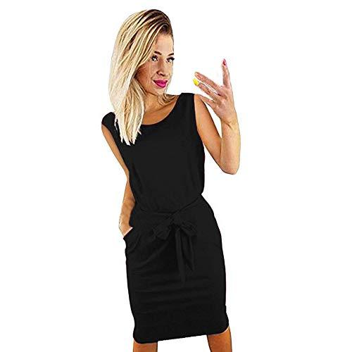 Amazon.com: Vestido de verano para mujer, elegante, sin ...