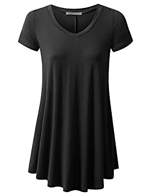 URBANCLEO Womens Basic eLong Tunic Top Mini T-shirt Dress (PLUS Size Available)