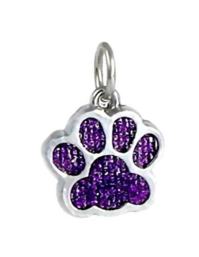 J&M Dangle Enamel Purple Cat/Dog Paw Charm Bead for Charms Bracelets