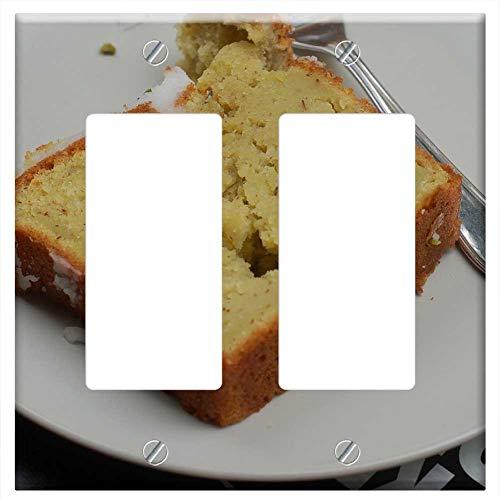- Switch Plate Double Rocker/GFCI - City Dessert Banana Bread Sweetness Refreshment