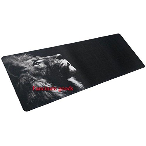 "Price comparison product image Focus Extended Speed Gaming Mousepad - Non-slip Rubber base - 31.49"" x 11.81"" x 0.07"" - Black Locked Lion"