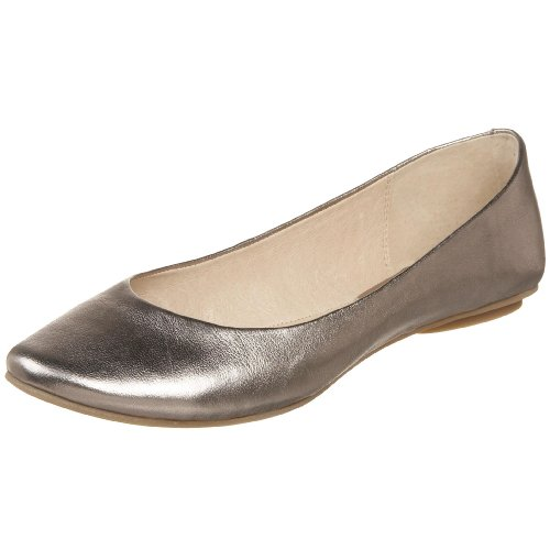 Kenneth Cole REACTION Women's Slip On By Ballet Flat,Pewter,12 M US