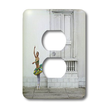 3dRose LLC LSP 10049_ 6Gina, un colombiano profesional bailarina de ballet en Cartagena 2enchufe Outlet Cover
