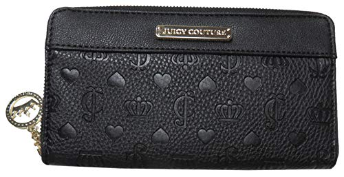 Juicy Couture Shie Dynasty Zip Around Wallet Black (Juicy Couture Wallets For Women)