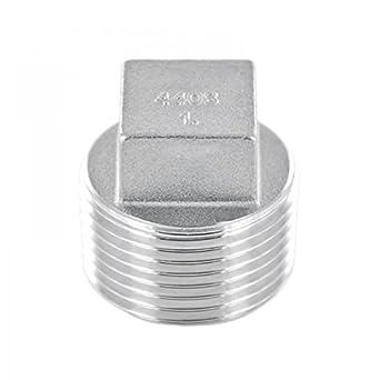 Tap/ón con racor de rosca cuadrada fabricado en acero inoxidable V4A