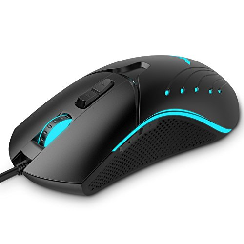 HAVIT HV-MS728 8200DPI Wired Laser Gaming Mouse with 7 Programmable Buttons, Black